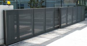 Secure fence and access gate located in Pflugerville for commercial and business property
